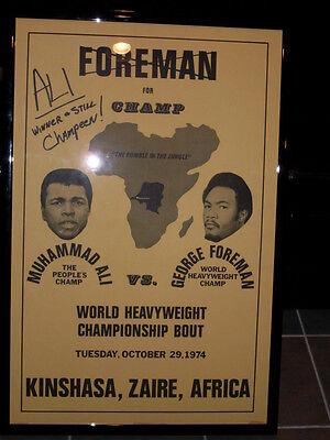 Muhammad Ali/George Foreman Vintage 1974 Fight Poster - Very Rare Diamond