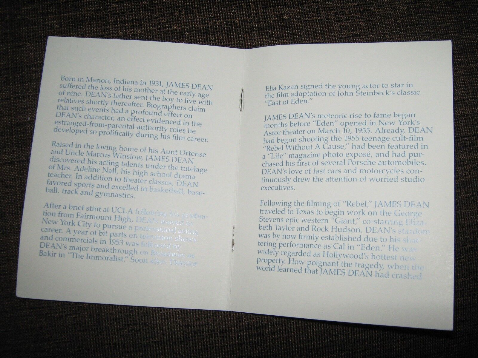 JAMES DEAN DOLL , 1985 ,THE JAMES DEAN FOUNDATION
