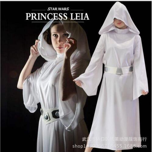 ADULT WOMENS KIDS PET PRINCESS LEIA OFFICIAL STAR WARS FANCY DRESS COSTUME