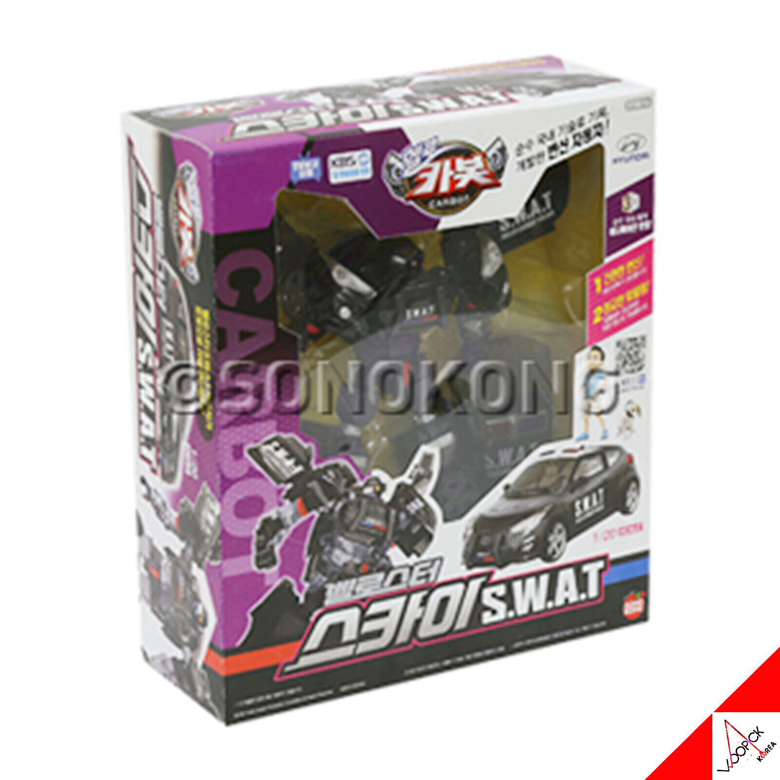 Hello Carbot Veloster SKY SWAT 1 20 Scale Transformer Police Car Robot Toy 2019