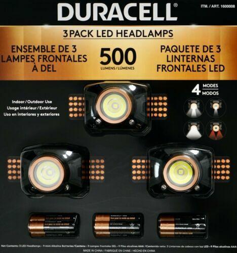 pack de 3 4 light modes NEUF DURACELL DEL Projecteurs 500 Lumens résistant aux intempéries