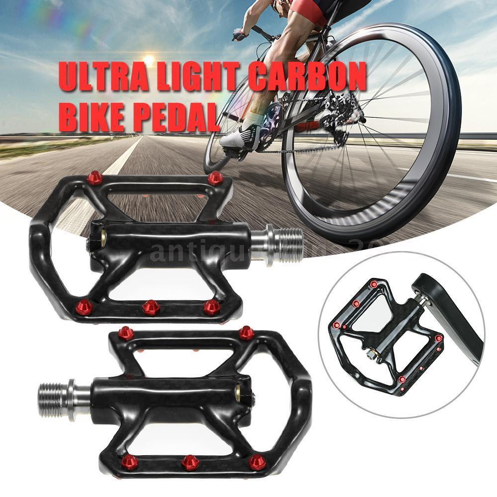 Ultra Light Bike Pedals Lightweight Carbon Fiber 3-Bearing Platform Pedals N3T8