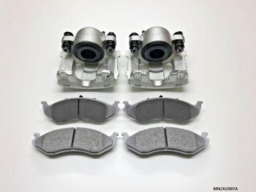 2 x Front Brake Calipers /& Brake Pads Jeep Cherokee XJ 1990-2001 BRK//XJ//007A