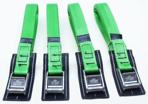 4-Pack de 3.0m Correas Acolchadas Cam Hebilla proteger Verde Correa de Amarre Cinturón de remolque
