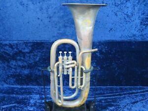 Original American Standard Cleveland Argent 3 Valve Euphonium Ser#17017 Joue Bien.-afficher Le Titre D'origine