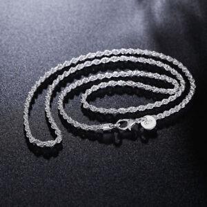 925-Silber-Kette-60cm-Halskette-Panzerkette-4mm-Massiv-Herren-Damen-Schmuck-Neu