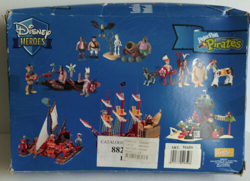 Rare Disney Heroes Famosa Peter Pan Pirates figures toys play set