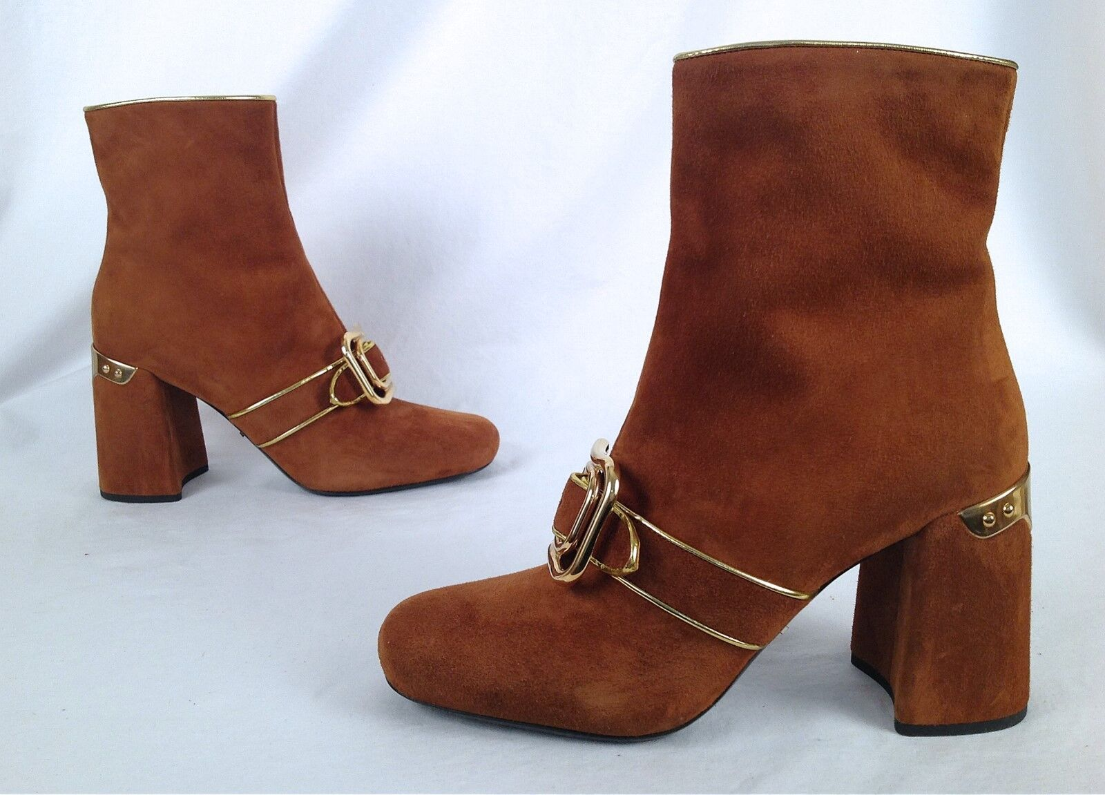 NEW!! PRADA -Buckle-Detailed Ankle Boots-Size- US 9/EU 39-  1100- (P9)