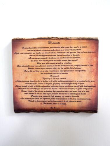 Poem on Rustic Wooden Plaque DESIDERATA Wood Sign