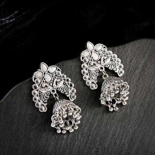 Vintage Multistyle Silver Jhumka Drop Dangle Ethnic Tribal Earring Gypsy Jewelry