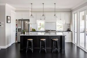 Details About 7 Ft Black Kitchen Island With White Quartz Counter Top Custom Made Color