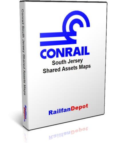 Conrail South Jersey Shared Assets Track /& Yard Maps RailfanDepot PDF on CD