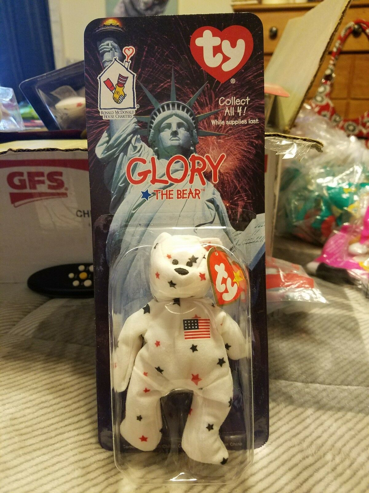 Ty beanie babies Glory Glory Glory Beanie Bear Very RARE DATE DISCREPENCY       3e531e