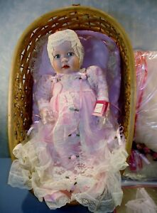 Ashton-Drake-Victorian-Lullaby-Porcelain-Doll-and-Cradle-New-in-Box