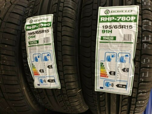 New ROVELO RHP 780P 195//65 R15 91H A1 Quality Car Tyres 195 65 15 C+