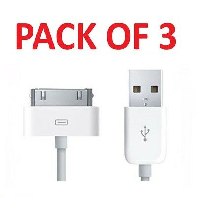 3x Usb Charging Cable & Sync Charger Lead For Apple Iphone 4,4s,3gs,ipod,ipad2&1 Durchsichtig In Sicht