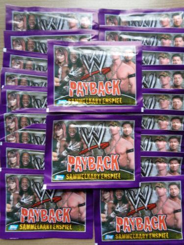 WWE Payback 20 pochettes//cartes de collection jeu//Nouveau//Neuf dans sa boîte//TOPPS