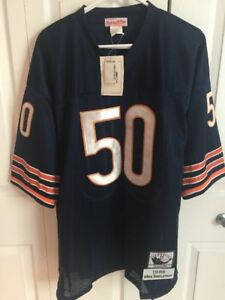 the best attitude 09a14 ec952 Details about NEW Chicago Bears Mike Singletary Sewn Throwback Jersey  Mitchell & Ness Size 52