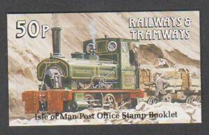 Isle-von-Mann-1988-50p-Zuege-amp-Tramways-Broschuere-MNH-Sg-SB18