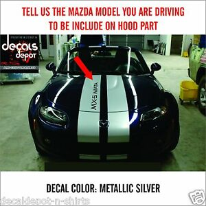 Details about Dual Rally Stripes Fits MAZDA MX-5 Miata, 3 Sport, 6,  Hatchback Touring CX7 more
