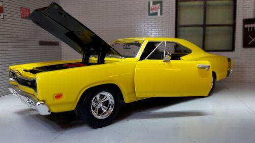 Spielzeugautos LGB 1:24 Maßstab Rot Dodge Coronet  1969 Motormax Druckguss Modell Auto 73315