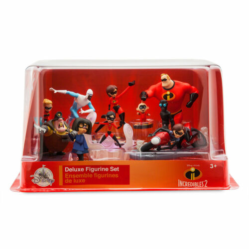 The Incredibles 2-Figure Set Disney 10 Figurines New in Box