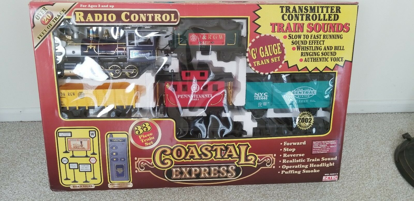 COASTAL EXPRESS Radio Control Train Set   G Gauge   Sounds and Smoke