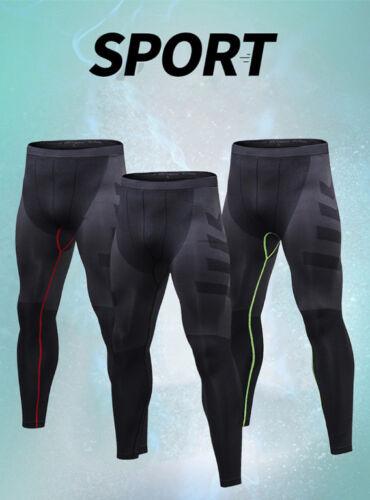 Mens Sports Gym Running Long Pants Tight Leggings Training Trousers Fashion B472