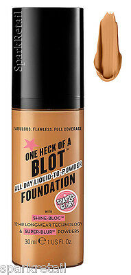 Soap and Glory One Heck of a Blot All Day Foundation Oily Skin 30ml CARAMEL
