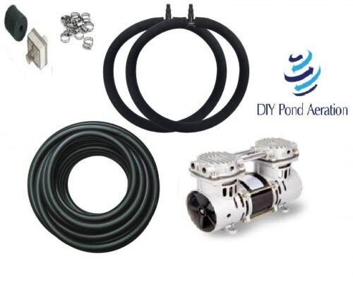 DIYPondPro Fish Pond Aerator System w//100/' WTD Hose /& Diffuser w// NEW PUMP