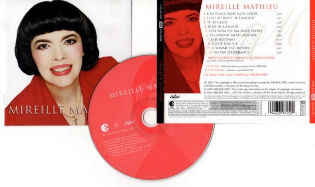 """MIREILLE MATHIEU """"Une place dans mon coeur"""" (CD) 2005"""