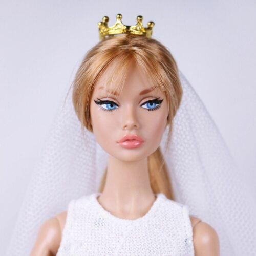 Coroa Mini Ouro A033 Acessórios cabelo Coroa Boneca Barbie Poppy Parker Fr Boneca Nf