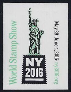 2016 New York World Stamp Show Cinderella Poster Stamp / Label Mint NH