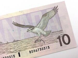 1989-Canada-10-Dollar-Ten-Dollar-BDH-Uncirculated-Bonin-Thiessen-Banknote-R760