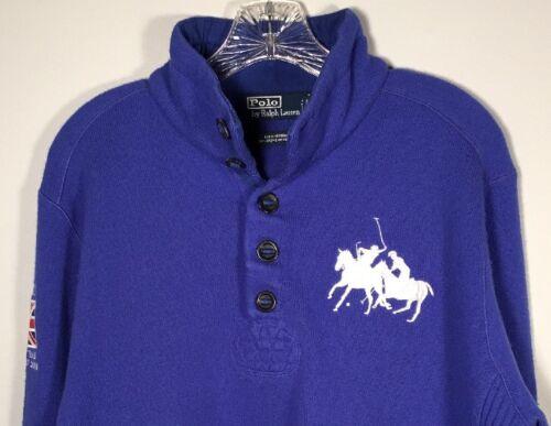 Ralph Polo Big Lauren Blue Maglione Mens di Team Pony 2008 L Mercer Winter lana Cup qAATprdxwF