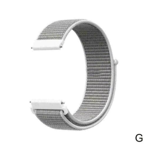 20mm 22mm Gewebte Nylon Sport Loop Uhrenarmband Schnellverschluss Federstif L9P4