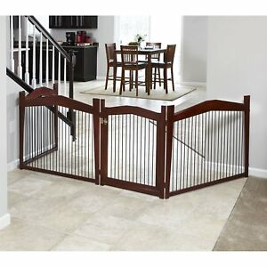 Dog House Kennel Pet Crate Gate 2 In 1 End Table Brown Large Indoor Furniture