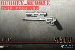 1-6-Scale-Pistol-Weapon-SILVER-Gun-M500-Magnum-12-039-039-HotToys-Figure-SHIP-FROM-USA