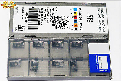 10pcs Iscar HM90 APKT 1003 PDR IC908 Milling Carbide inserts New free shipping