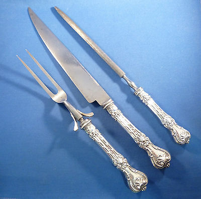 KING EDWARD-WHITING STERLING LARGE 3 PIECE CARVING SET