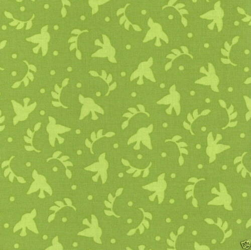 P /& B TEXTILES NIKKY GREEN QUILT FABRIC #757 1076 BY THE YARD