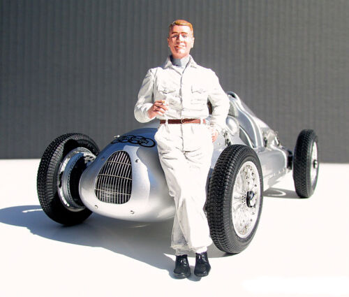 1930/'s BERND ROSEMEYER DRIVER FIGURINE 1//18 SCALE BY LEMANS MINIATURES 180013