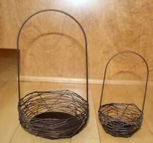 Crate Barrel Wire Basket Easter Copper Brown Ebay