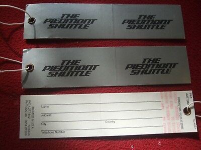 Airline Baggage Tags X 3 Piedmont Shuttle 1980's / 90's Vintage Rich And Magnificent