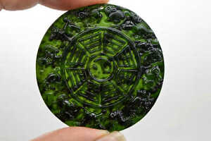 100% Chinese Fine carved natural jade  statue pendant 12 zodiac