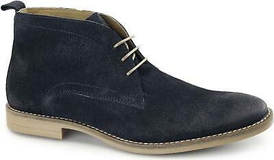 Base London DORE Mens Dirty Suede Leather Casual Lace Up Desert Boots Shoes