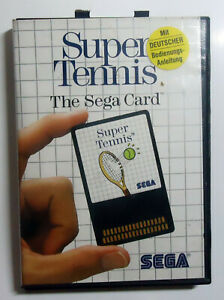 Super-Tennis-The-Sega-Card-boxed-no-manual-SEGA-Master-System-MS-PAL-1986