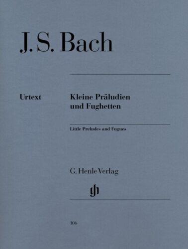 für Klavier Kleine Präludien und Fughetten HN 106 Bach Urtext
