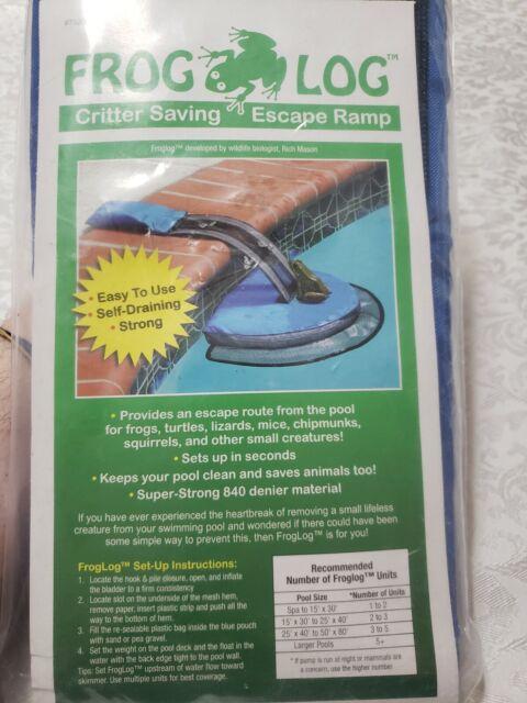 US Swimming Pool Frog Log Critter Toad Saving Escape Ramp Animal Saver Safe Net
