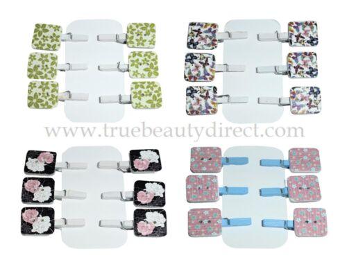 Elige un estilo 6 X hecho a mano color Mini Clavijas Cuadrado Adornos Artesanía Fotos